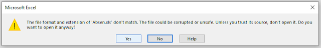 Export To Excel Error Notification