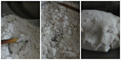 Mix the flour fr idiyappam