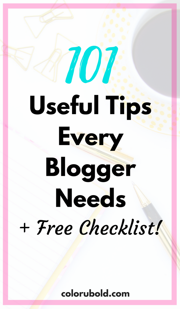 useful tips for bloggers