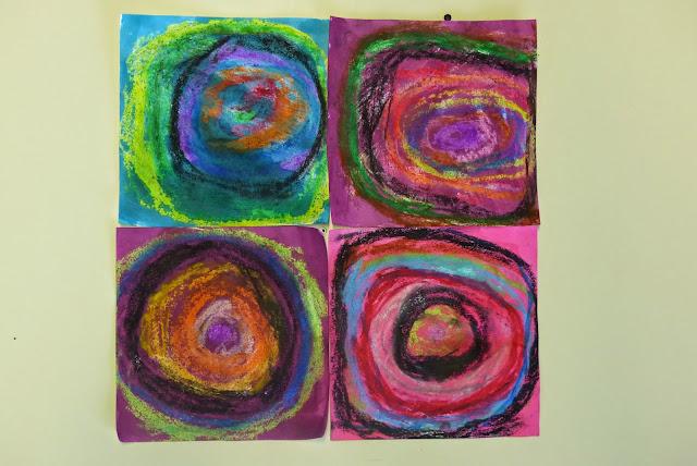 Kandinsky en MS travail sur le rond