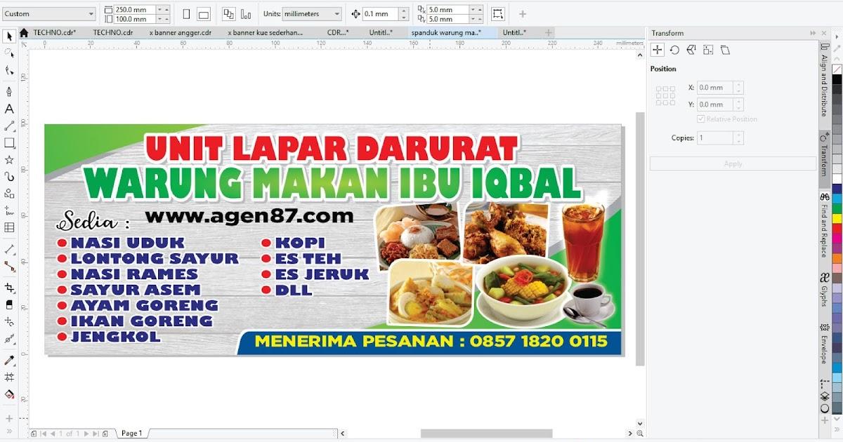 Spanduk Warung Makan Sederhana Free CDR 2019 - Agen87