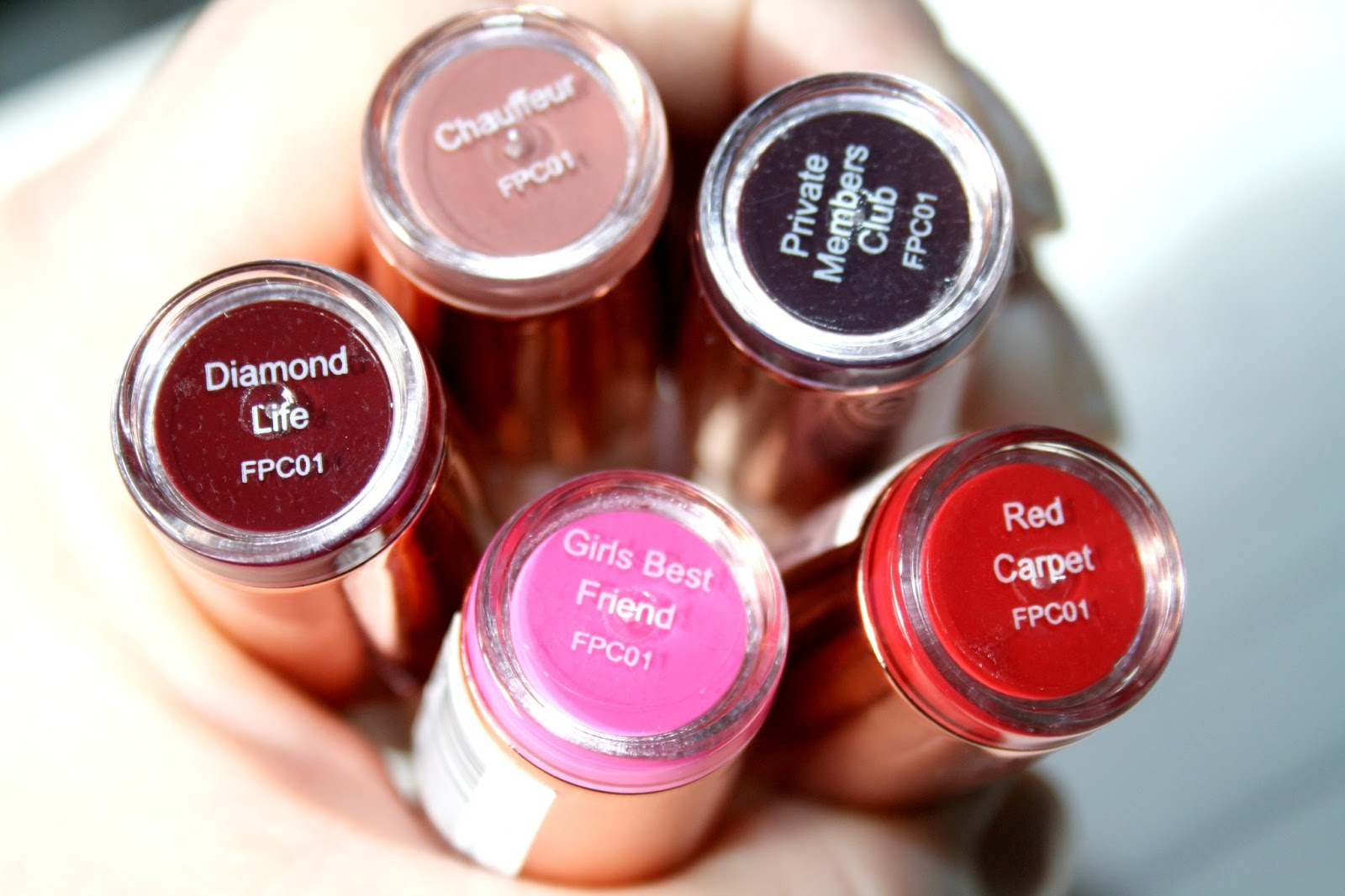 beautyqueenuk: Makeup Revolution Rose Gold Lipsticks