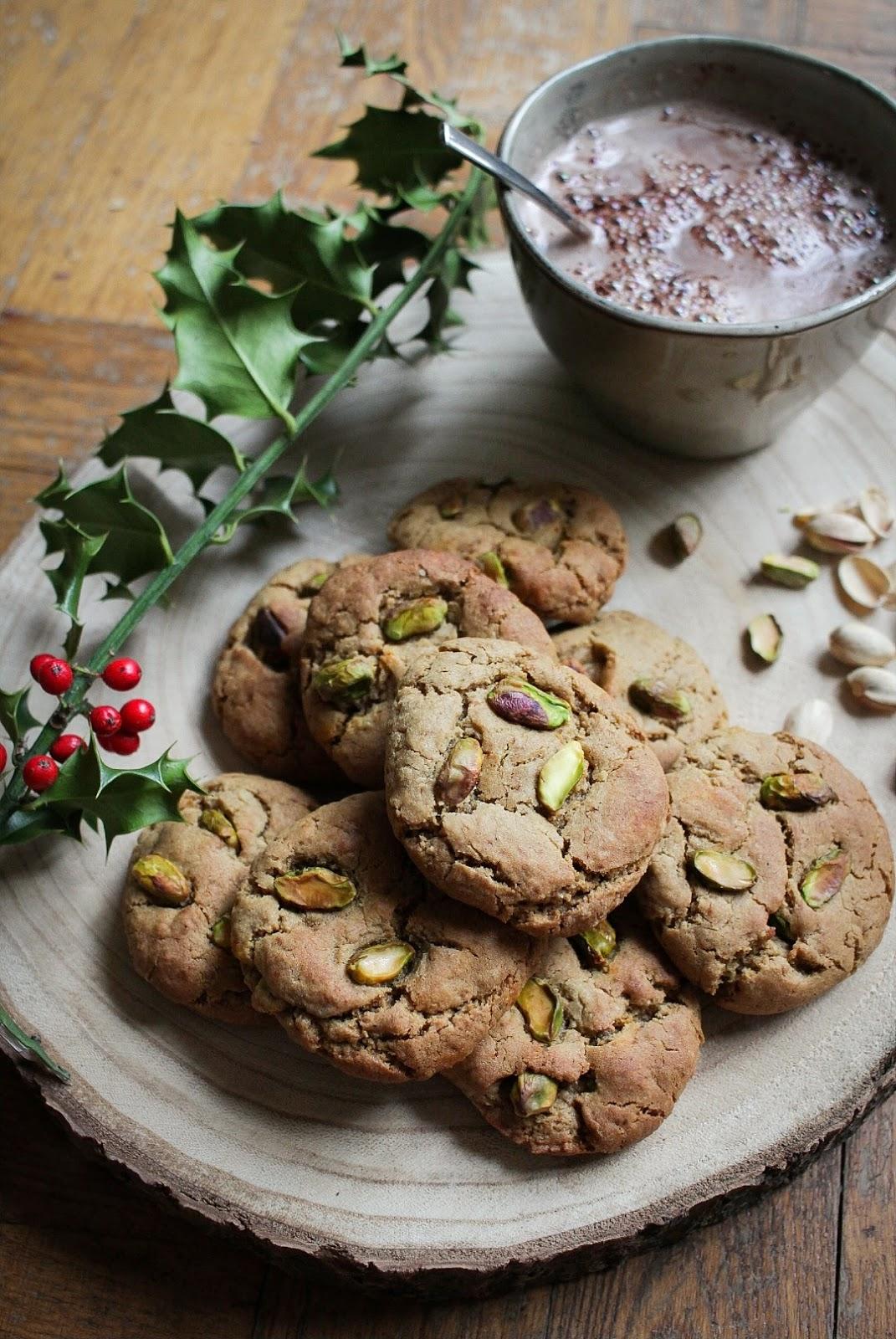 Cookies vegan à la pistache Noël