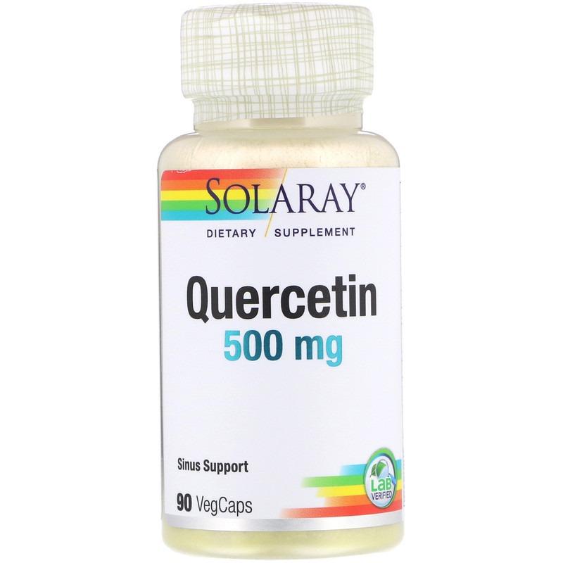 Solaray, Кверцетин, 500 мг, 90 вегетарианских капсул