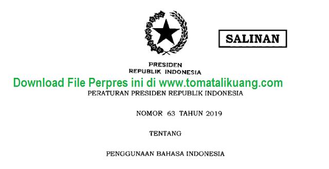 perpres nomor 63 tahun 2019; tomatalikuang.com