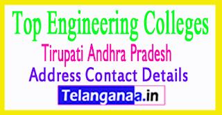 Top Engineering Colleges in Tirupati Andhra Pradesh