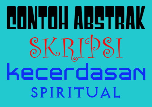 contoh-abstrak-skripsi-kecerdasan-spiritual-siswa