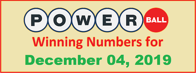 PowerBall Winning Numbers for Wednesday, December 04, 2019