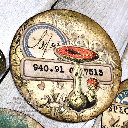 Sara Emily Barker https://sarascloset1.blogspot.com/2020/03/artist-trading-coins-with-tim-holtz.html ATC's Field Notes Distress Embossing Glazes 3