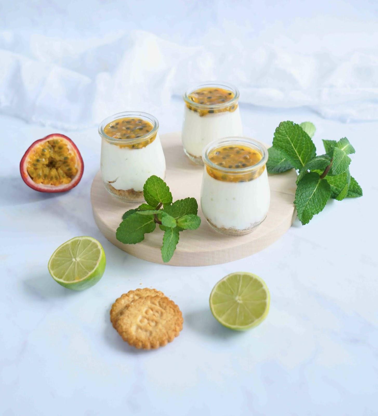 skyr , recette légère , fruits de la passion