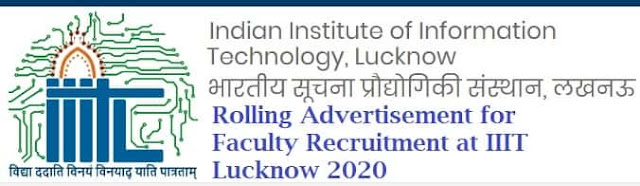 Sponsor    HomeSarkari Naukri in Uttar Pradesh (UP)IIIT Lucknow Faculty Vacancy Recruitment 2020 IIIT Lucknow Faculty Vacancy Recruitment 2020Sponsor    HomeSarkari Naukri in Uttar Pradesh (UP)IIIT Lucknow Faculty Vacancy Recruitment 2020 IIIT Lucknow Faculty Vacancy Recruitment 2020