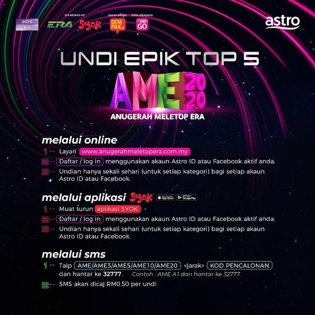 Undian Top 5 Anugerah MeleTOP ERA 2020