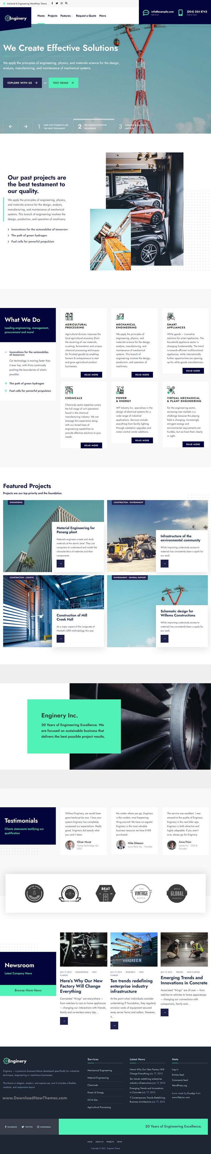 Industrial and Engineering WP theme