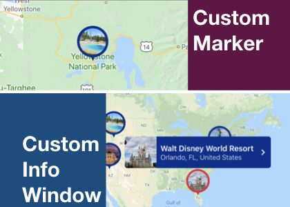 Create custom marker and custom info window in iOS using swift - Google maps