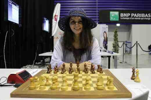 La charismatique double championne de France d'échecs Nino Maisuradze va-t-elle nous faire le coup du chapeau à Agen en allant chercher un 3ème titre ? - Photo © Chess & Strategy