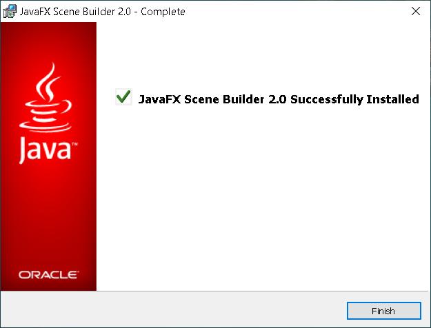 Step 4 - JavaFX Scene Builder 2.0 on Windows