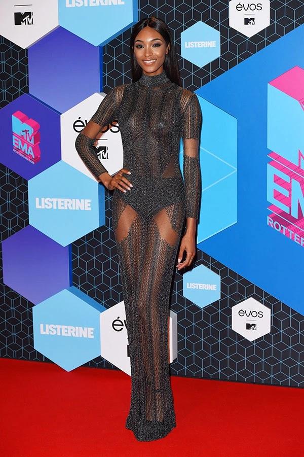 Jourdan Dunn attends the MTV Europe Music Awards