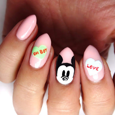 Disney Conversation Heart Nails
