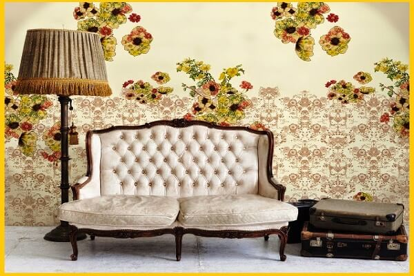 vintage wall decor painting ideas