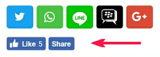 Contoh tombol like facebook