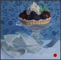 dessert,desserts,oil painting,art,artwork,pattern,berry tart,still life