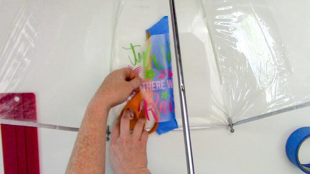 oracal 651, adhesive vinyl, vinyl on umbrella, hinge method, silhouette project ideas