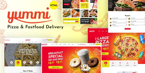 Best Fast Food Delivery Restaurant Bootstrap Template