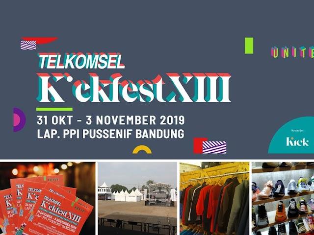 Telkomsel KickFest XIII Digelar di Pussenif Bandung 31 Oktober - 3 November 2019