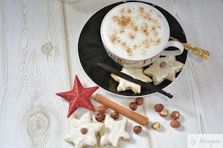 Rezept für die Weihnachtsbäckerei Schoko-Cappuccinos mit Zimt und Mandeln