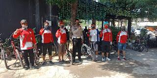 Jelang Operasi Zebra 2020, Kasat Lantas Polres Gowa Sosialisasi Komunitas Pencinta Sepeda