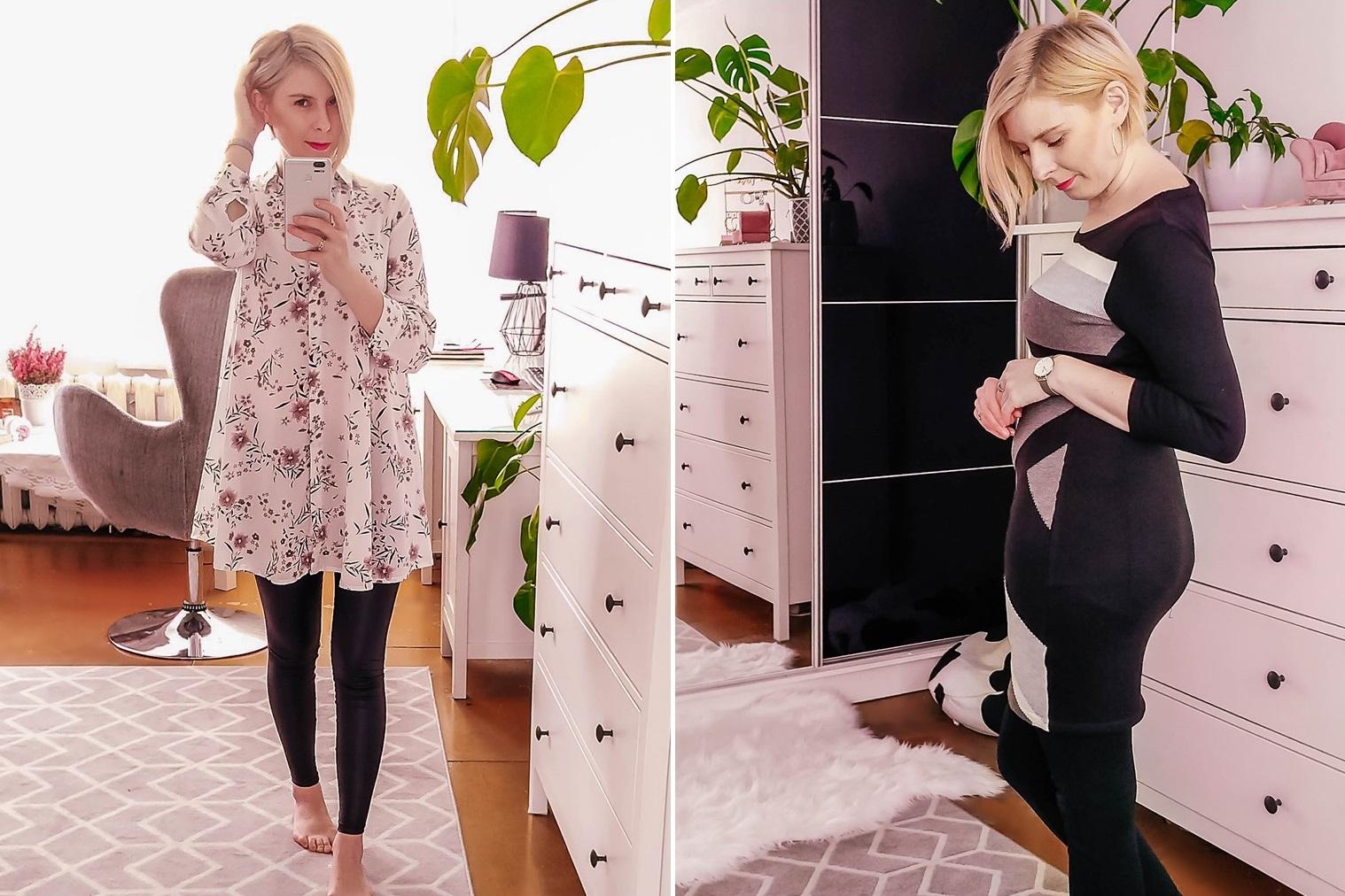 Bonprix - oczekiwania kontra rzeczywistość {oversizowa koszula, sukienka swetrowa i połyskliwe legginsy}