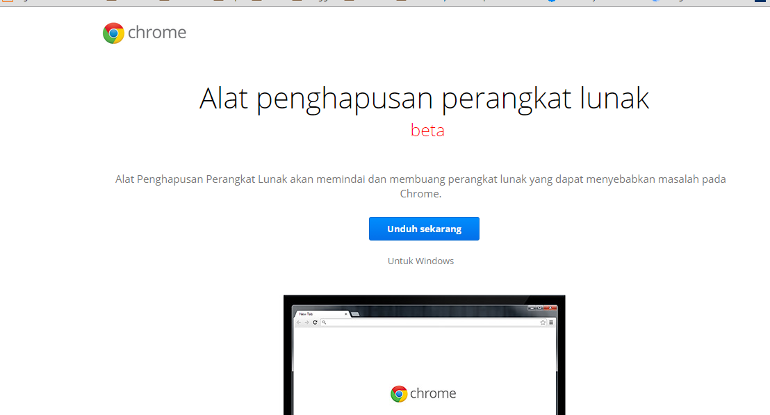 Software Removal Tool dari Google