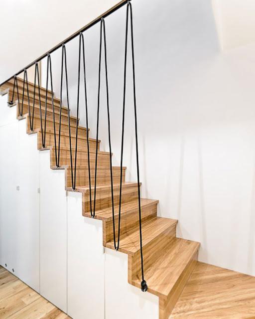 idée de rampe d'escalier originale