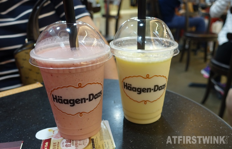 Häagen-Dazs My fair lady mango fiesta mango strawberry drinks