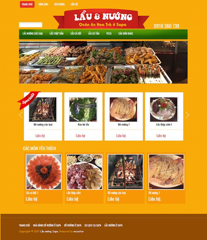 Mẫu website nhà hàng 2020
