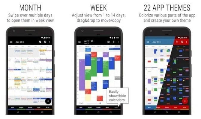 Aplikasi Kalender untuk Smartphone Android - Business Calendar 2