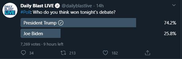 Twitter poll Presidential debate 4