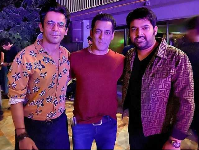 Sunil Grover, kapil Sharma with Salman khan