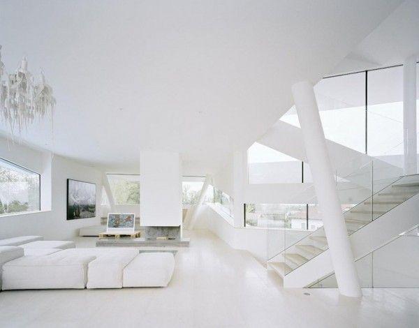 White staircase designs
