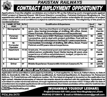 Jobs Available - Pakistan Railways Jobs May 2020 - Latest Jobs