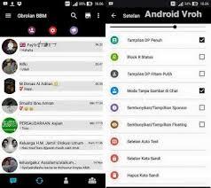 Download BBM Mod Black Minimalist Blackberry Versi 2.11.0.16 Apk