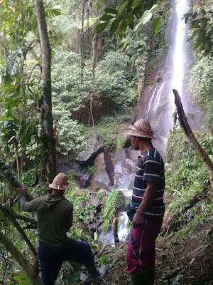 Penemuan Air Terjun di Lokasi TMMD Desa Nyanggelan, Berpotensi Jadi Tempat Wisata Baru