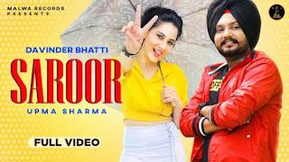 Saroor Lyrics Davinder Bhatti