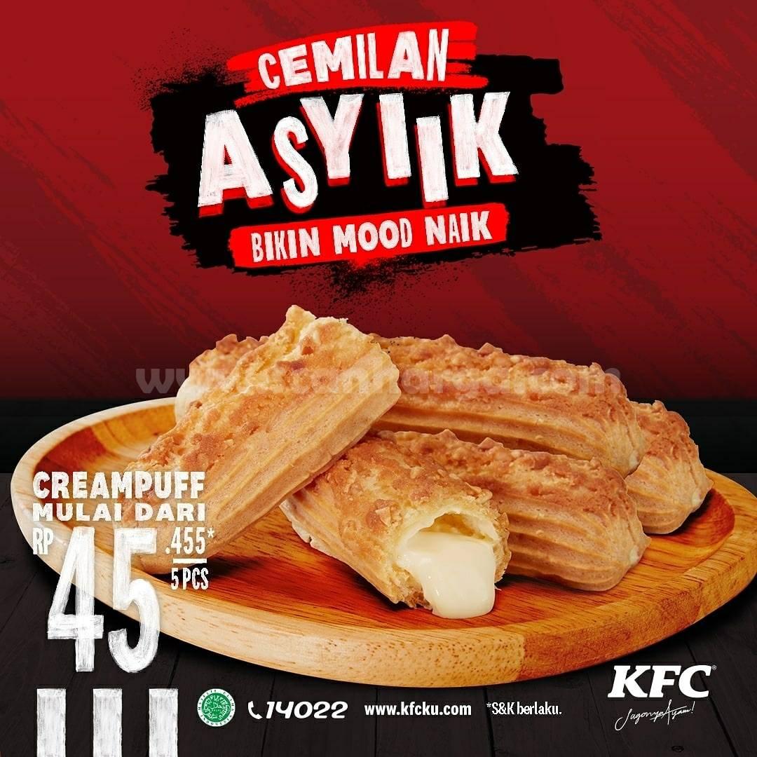 Promo KFC Beli 5 CREAMPUFF Harga Spesial Mulai Rp 45.455