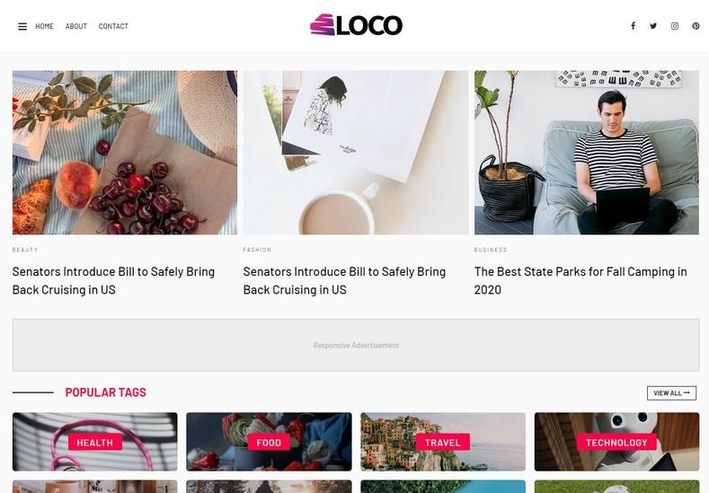 Loco Blogger Template