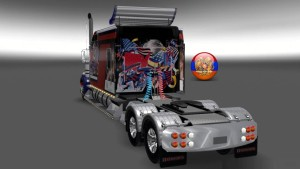 Kenworth W900 Long Metallic USA Style Skin