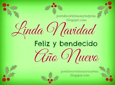 tarjeta postal cristiana de linda navidad feliz y bendecido año nuevo por mery bracho