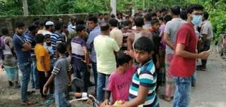 চুয়াডাঙ্গার জীবননগরে স্বামীর মোটরসাইকেল থেকে পড়ে স্ত্রী নিহত