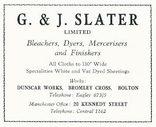 G. & J. Slater Limited, Bleachers, Dunscar