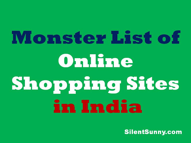 Monster List of Shopping Sites in India - Silent Sunny